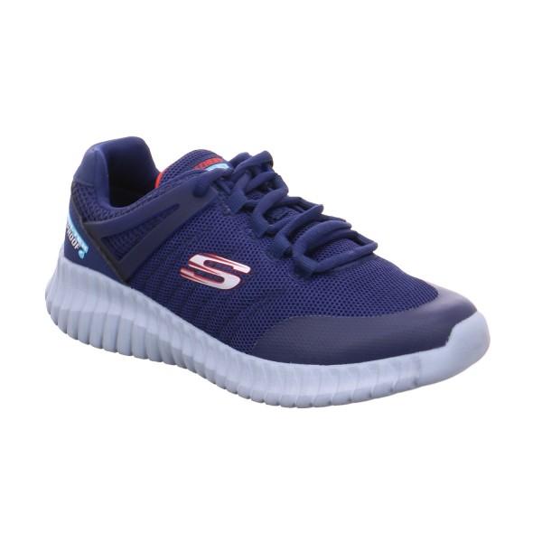 SKECHERS Jungen Halbschuh Binder Blau Textil Sneaker