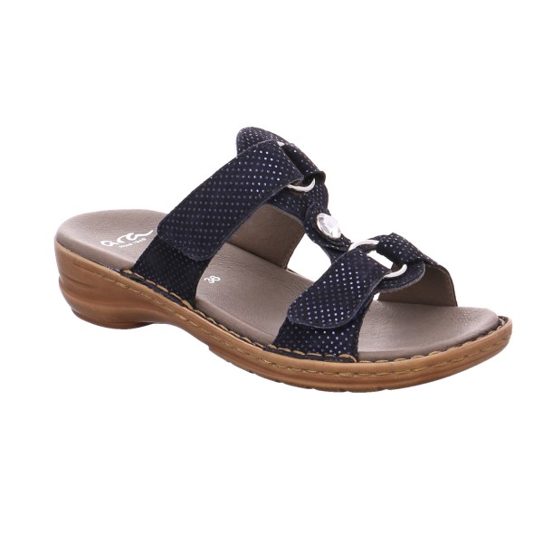 separation shoes f7b88 11be6 ARA Comfort-Pantolette Blau Leder